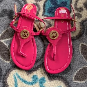 NWOT never worn hot pink Michael Kors sandals